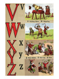 V, W, X, Y, Z Illustrated Letters Posters by Edmund Evans