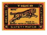 Tiger Safety Match Posters