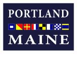 Portland, Maine - Nautical Flags Prints by  Lantern Press