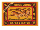 Three Lions Safety Match Prints