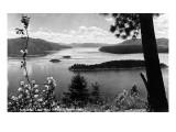 Idaho - Lake Pend Oreille View Kunstdrucke von  Lantern Press