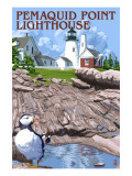 Pemaquid Lighthouse - Maine Posters by  Lantern Press