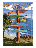 Morro Bay, CA - Destination Signs Poster by  Lantern Press