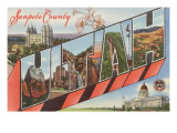 Sanpete County, Utah - Large Letter Greetings Prints