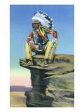 A Native American Scout Art by  Lantern Press