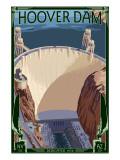 Hoover Dam Aerial Affiches par  Lantern Press