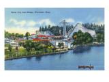 Worcester, Massachusetts - Bridge View of White City Poster