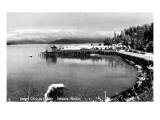 Cordova, Alaska - View of Ocean Dock in the Winter Prints