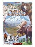 Denali National Park, Alaska - Park Views Posters by  Lantern Press