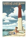 Barnegat Lighthouse - New Jersey Shore Posters by  Lantern Press