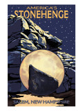 America's Stonehenge, New Hampshire - Night Scene Art by  Lantern Press
