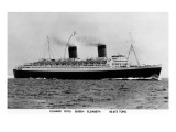 Cunard R M S Queen Elizabeth Ship Prints by  Lantern Press