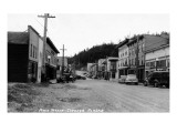 Cordova, Alaska - Main Street View Poster by  Lantern Press
