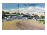 Saratoga Springs, New York - Night Trotting Track View Print