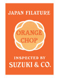 Japan Filature, Orange Chop, Suzuki & Co. Poster