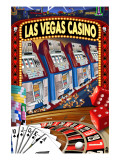 Las Vegas Casino Montage Print