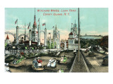 Coney Island, New York - Luna Park; View of Witching Waves Prints by  Lantern Press