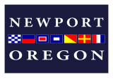 Newport, Oregon - Nautical Flags Posters by  Lantern Press