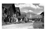 Sun Valley, Idaho - Main Street View of Challenger Inn Prints by  Lantern Press