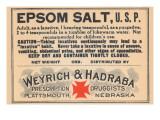 Epsom Salt, U.S.P. Posters