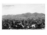 Bozeman, Montana - Panoramic View of Town Art