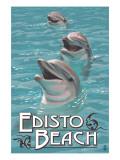 Edisto Beach, South Carolina - Dolphins Posters by  Lantern Press