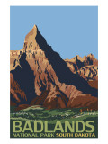 Badlands National Park, South Dakota Art by  Lantern Press