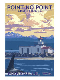 Point No Point Lighthouse - Hansville, WA Print by  Lantern Press