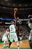 Miami Heat v Boston Celtics - Game Four, Boston, MA - MAY 9: Dwyane Wade and Jermaine O'Neal Photographic Print by Brian Babineau