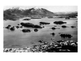 Sitka, Alaska - Aerial View of Town, Isles of Enchantment Art