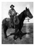 South Dakota - A Dakota Cowboy on Horseback Poster