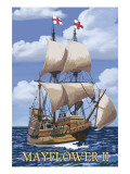 Plimoth Plantation, Massachusetts - Mayflower II Prints by  Lantern Press