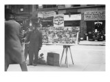 Street Vendor Sells Christmas & New Years Cards of New York Street Prints