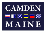 Camden, Maine - Nautical Flags Posters by  Lantern Press