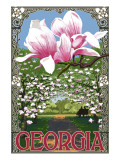 Georgia - Magnolias Prints by  Lantern Press