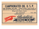 Camphorated Oil U.S.P. Posters