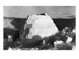 Kotzebue, Alaska - Snow Igloo Kunstdruck von  Lantern Press