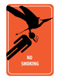 No Smoking Sign - Dinosaur Attack Posters
