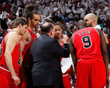 Chicago Bulls v Atlanta Hawks - Game Four, Atlanta, GA - MAY 8: Tom Thibodeau, Kyle Korver, Joakim  Photographic Print by Kevin Cox