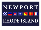 Newport, Rhode Island - Nautical Flags Print by  Lantern Press