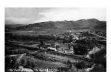 Hot Sulphur Springs, Colorado - Panoramic View of Town Print by  Lantern Press