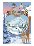 Timberline Lodge - Winter Views - Mt. Hood, Oregon Prints by  Lantern Press
