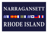 Narragansett, Rhode Island - Nautical Flags Print by  Lantern Press