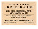 Chief Gray Horse Skeeter-Cide Art