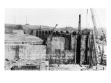 Fort Peck, Montana - Spillway Control Gates & Bridge Construction Posters