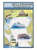 Bellingham, Washington - Nautical Chart Posters