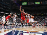 Chicago Bulls v Atlanta Hawks - Game Three, Atlanta, GA - MAY 6: Jeff Teague and Joakim Noah Photographic Print by Scott Cunningham