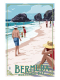 Horseshoe Bay Beach Scene - Bermuda Prints