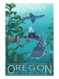 Oregon Coast - Leopard Shark Prints by  Lantern Press