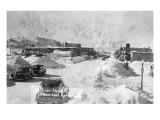 Steamboat Springs, Colorado - Snowy Street Scene Affiches